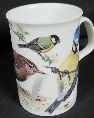 GARDEN BIRDS, FINE BONE CHINA mugs, Made England, Roy 10oz