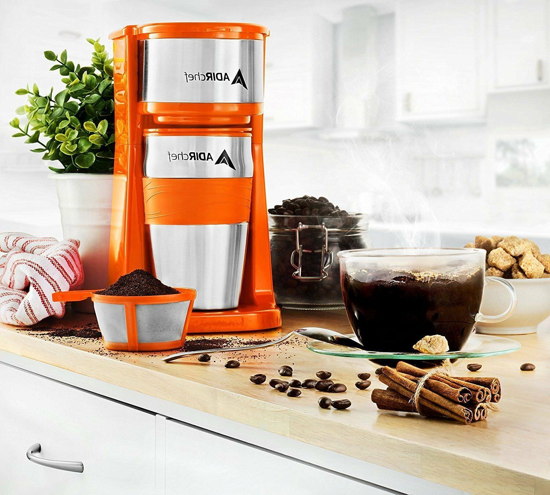 AdirChef Grab N' Personal Coffee with 15 Travel Choose Color