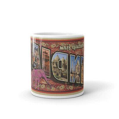 greetings from india postcard coffee mug
