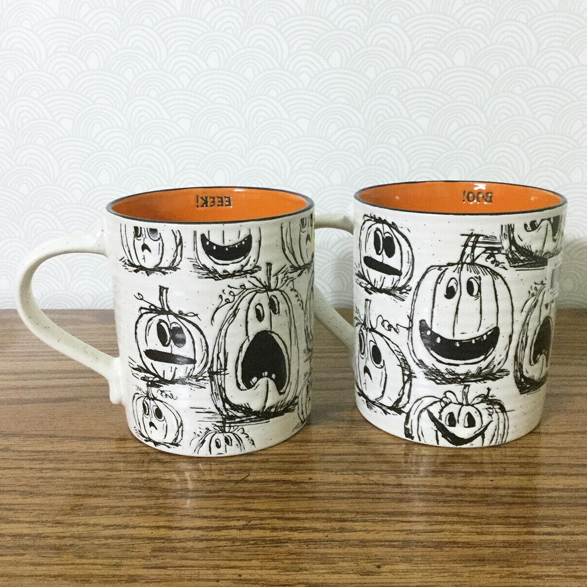 Halloween Coffee Mug Pumpkin Jack O Lantern Spooky