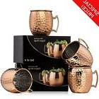 100% Pure Copper Moscow Mule Mugs 18oz Mug Hammered Cups Sol