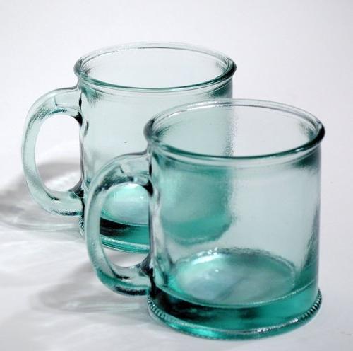Handmade Recycled Glass Coffee Mug Green Dte 03101