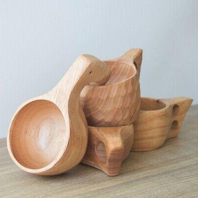 US Handmade Wooden Cup Lapland Finland Kuksa Wood Tea Coffee