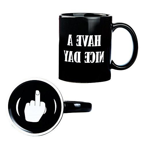 4f575151666 Have A Nice Day Middle Finger Coffee Mug
