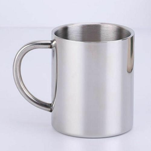 Hot Metal Drinking Pint Coffee Cup Steel