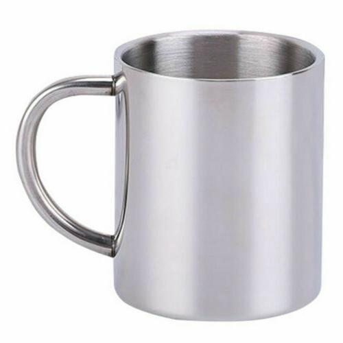 Hot Pint Mug Portable Cup Stainless Steel Camping