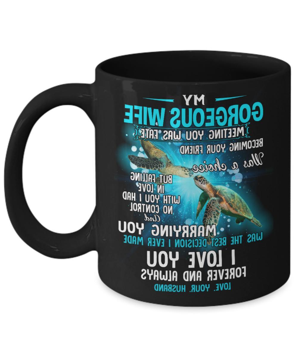 Husband Wife Coffee Mug Women Tea Cup Gift Meeting You Was F