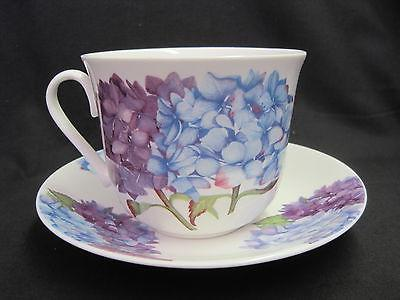 hydrangea fine bone china breakfast cup saucer