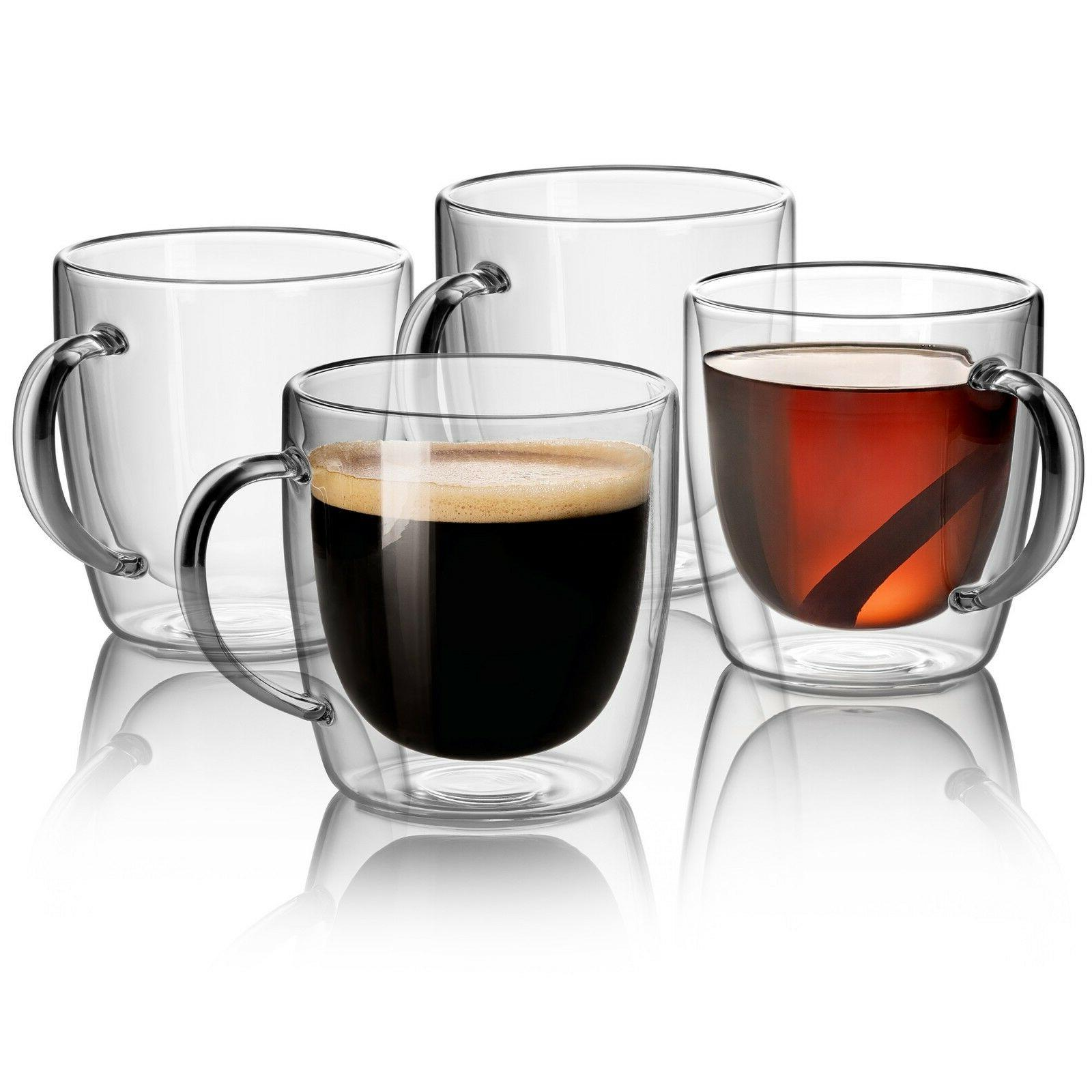 jecobi strong clear glass double wall coffee