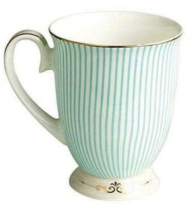 jusalpha royal fine bone china light blue