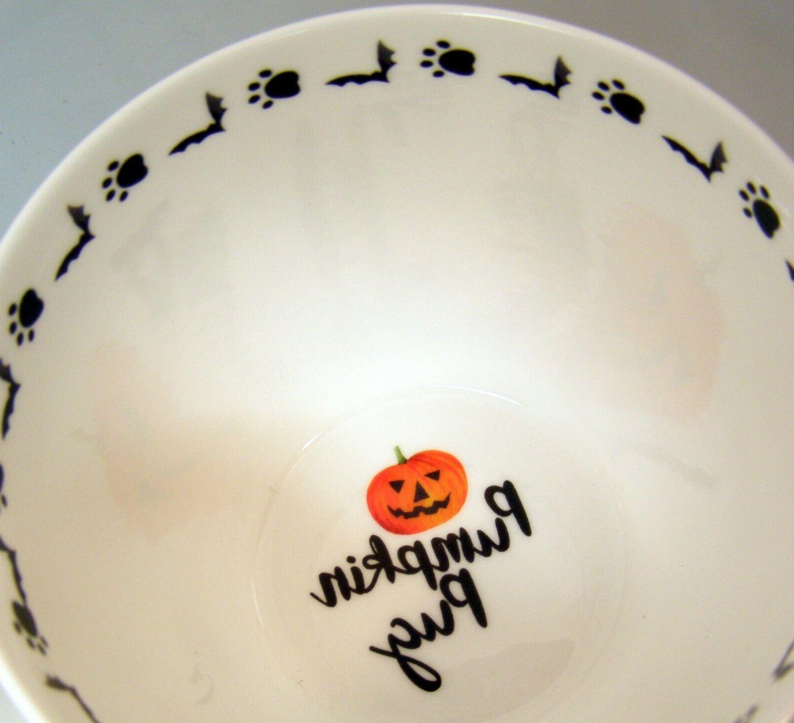 Large Halloween Pumpkin DOG Fine Bone Tags