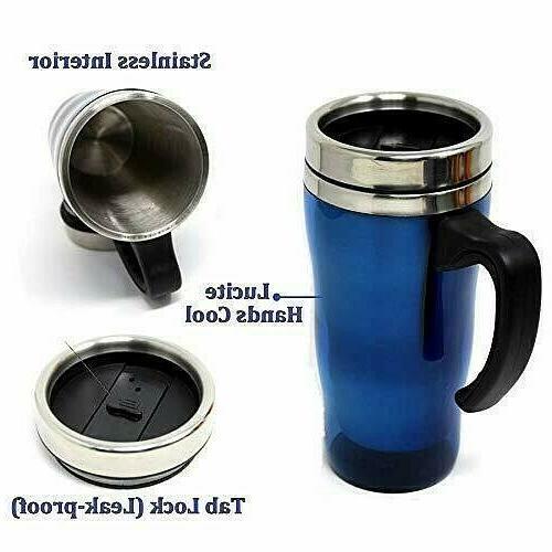 LEAKPROOF Insulated Mug steel Cup oz W Handle