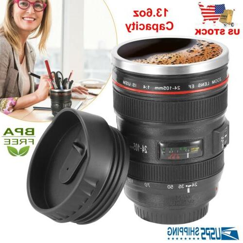lens cup coffee mug thermos