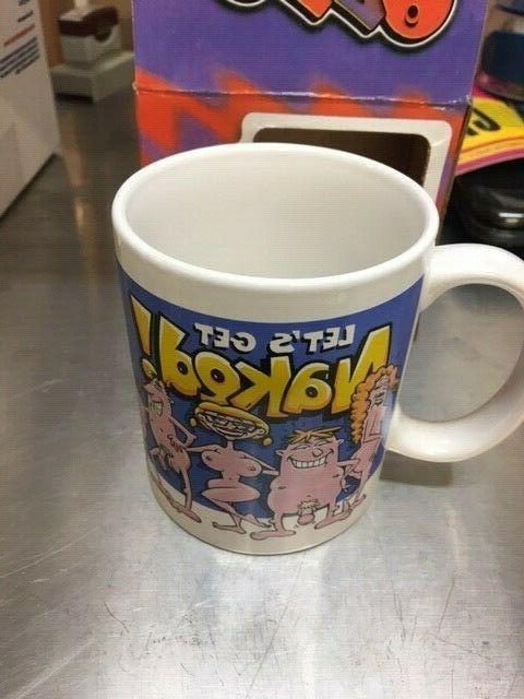 Let's get Naked! Coffee Mug Great Gag Prank Man Cave NEW!