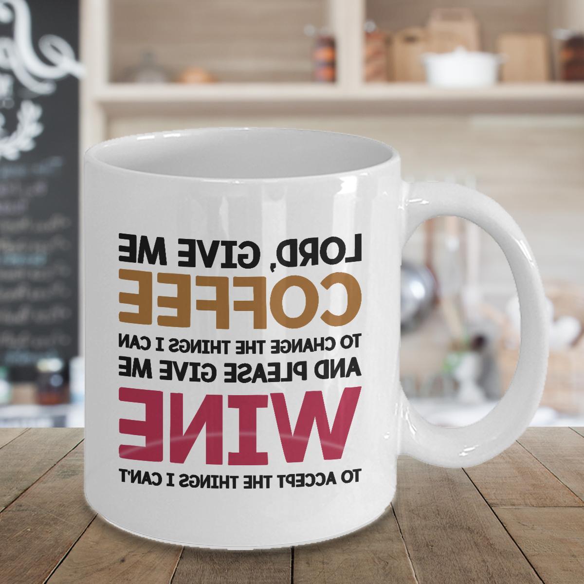 Lord Give Me Coffee Mug Cup Funny Christmas Birthday Novelty
