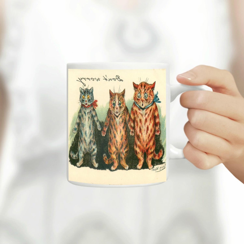 Louis Wain Funny Cats Coffee Mug, Unique Coffee Mugs