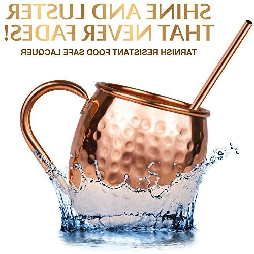 Moscow Copper Set Mugs Handmade 4 Coasters, & : Comes Gift