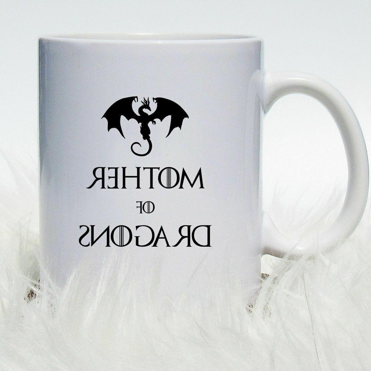 Mother of Dragons Coffee Mug - Game of Thrones Coffee Mug Kh
