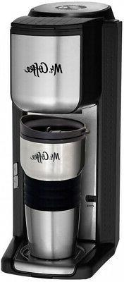 MR. COFFEE Single Serve Coffee Maker with Built-in Grinder a