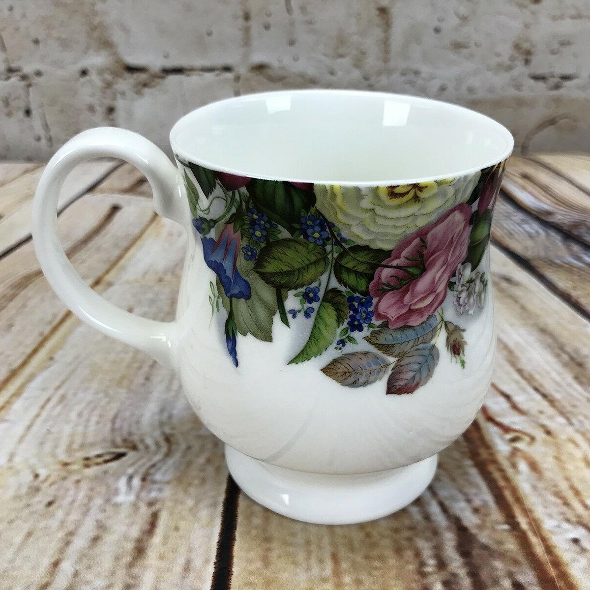 mug cup coffee tea cottage garden zinnia