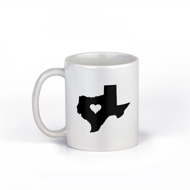 my heart is in texas coffee mug