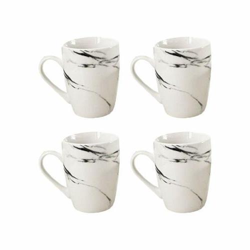 American Atelier Natural Porcelain Coffee & Tea Mug Set of 4