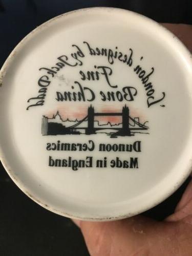 Never - DUNOON Fine Bone China 'London' Coffee Tea by