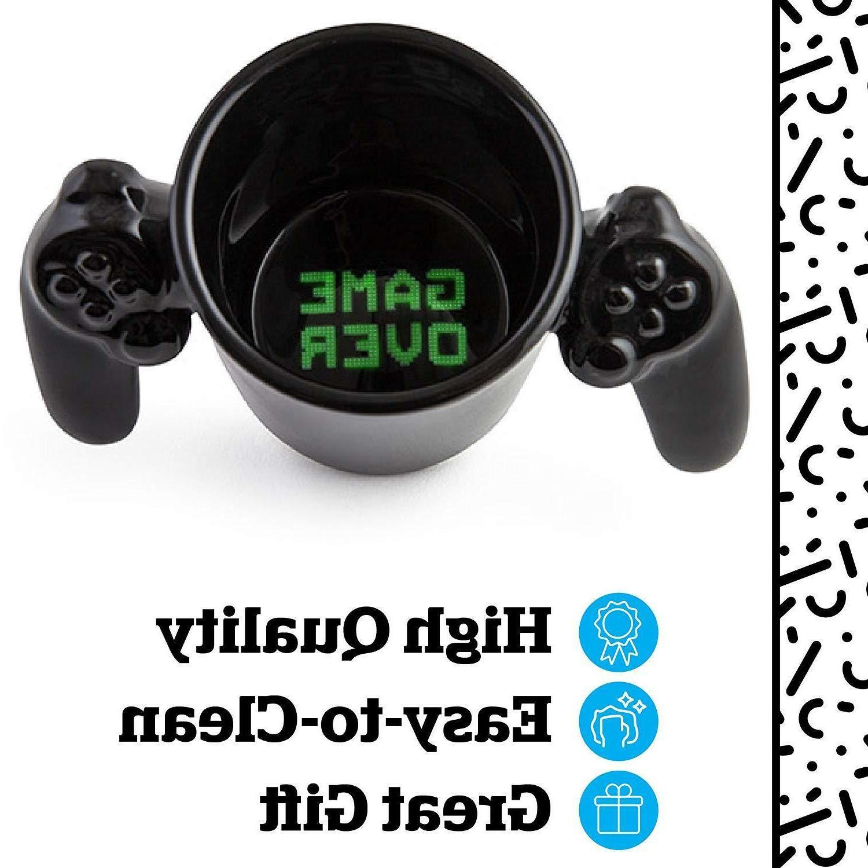 New Game Over Controller Mug Cup Black Novelty Gamer Gift