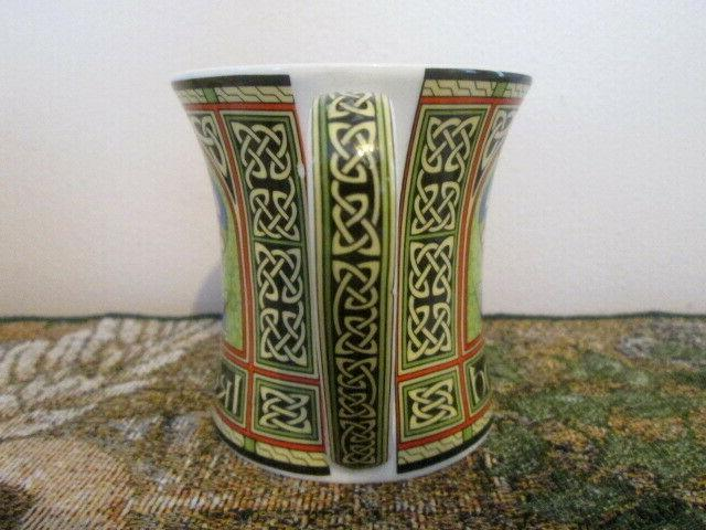 New IRELAND Ornate Celtic Peacock Bone China Ornate Cup Mug