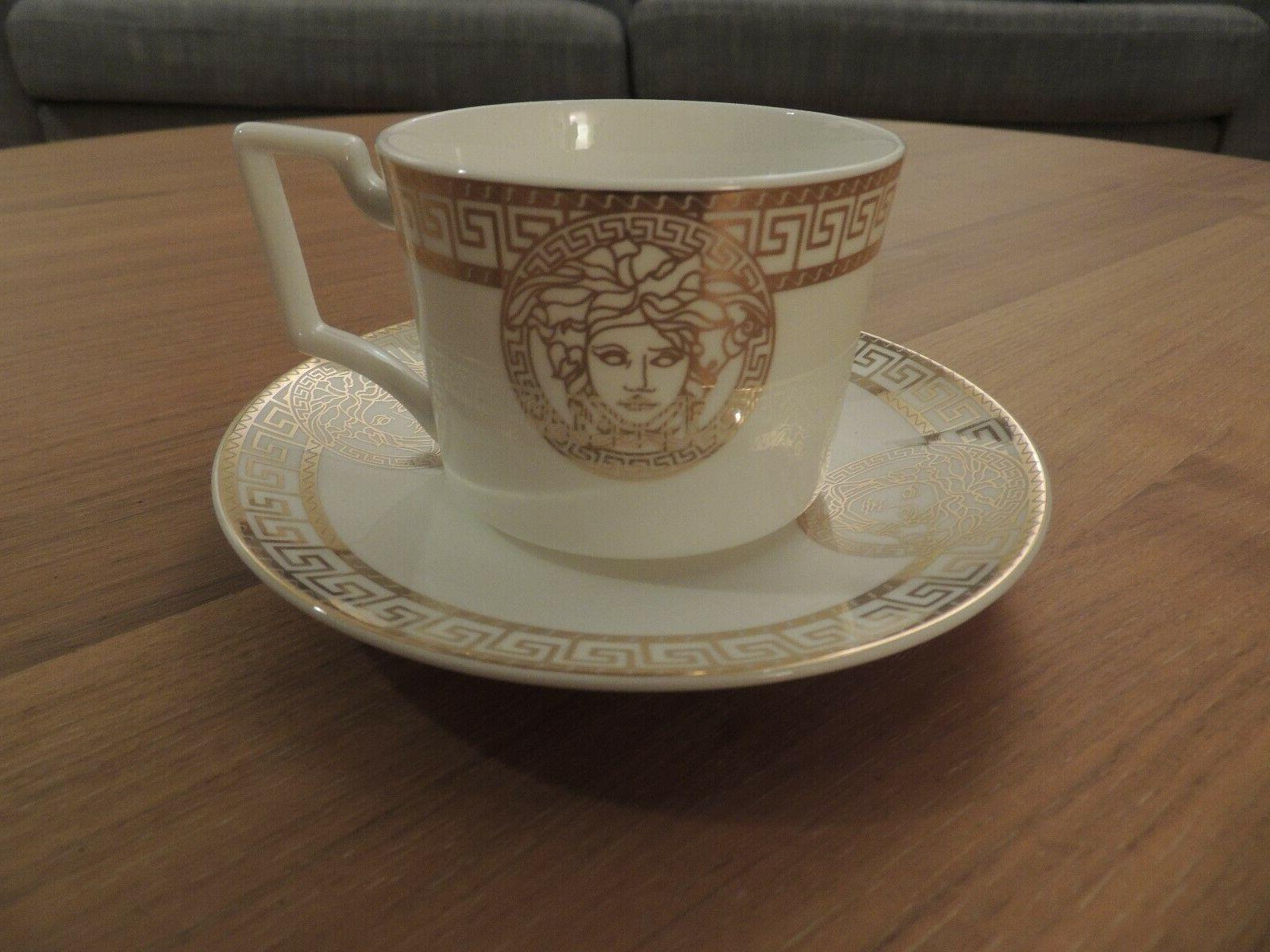 NEW VERSACE Inspired Rosenthal Tea Cups Coffe Cup and Saucer