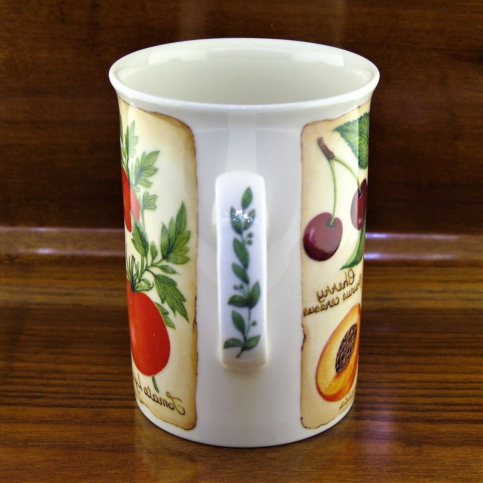 New Kirkham Parchment Fruit Bone China Mug ~ Made England
