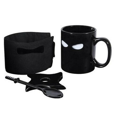Ninja Black Ceramic Sword Coffee Mugs Gift