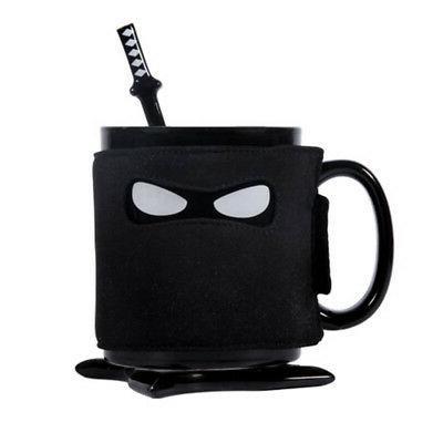 ninja mug black mask ceramic cup