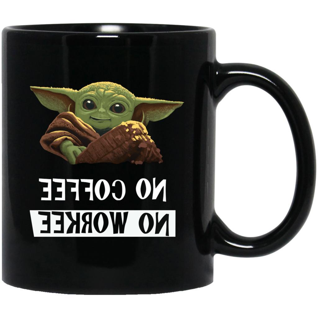 No Coffee No Workee Baby Yoda Cute Baby Yoda Coffee Mug Funn
