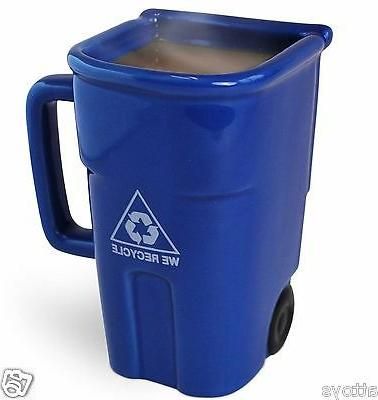 Novelty Ceramic Mug Coffee Cup - The Recycling Bin Mug New