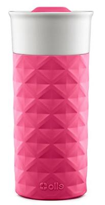 Ello Ogden BPA-Free Ceramic Travel Mug with Lid, Pink, 16 oz