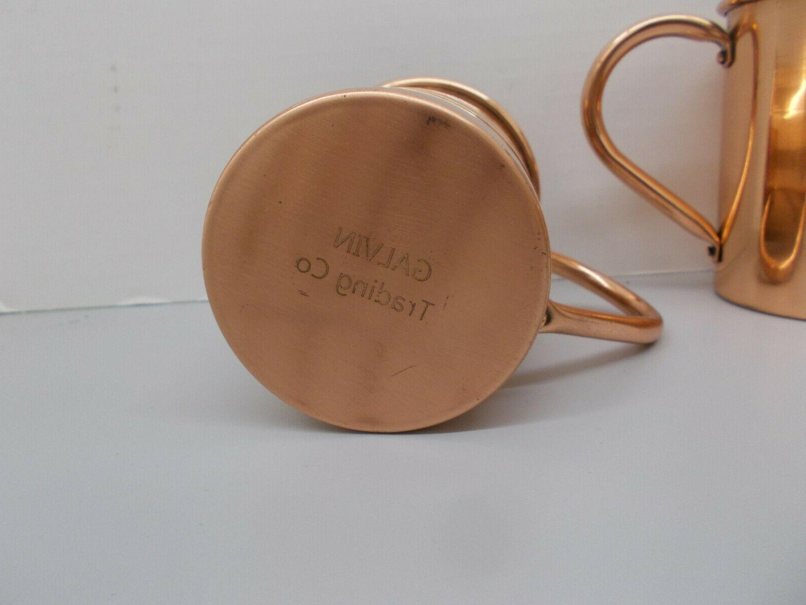 Pair of Artisian Copper Coffee 16 oz