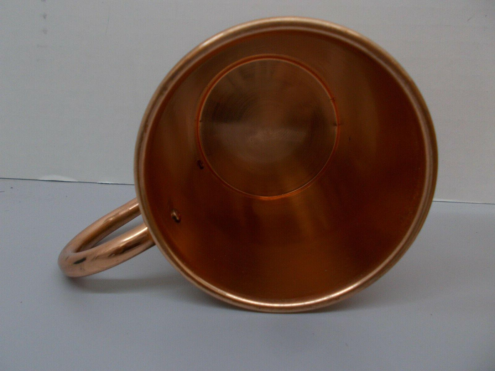 Pair Hand Crafted Artisian Mule Copper Cup 16