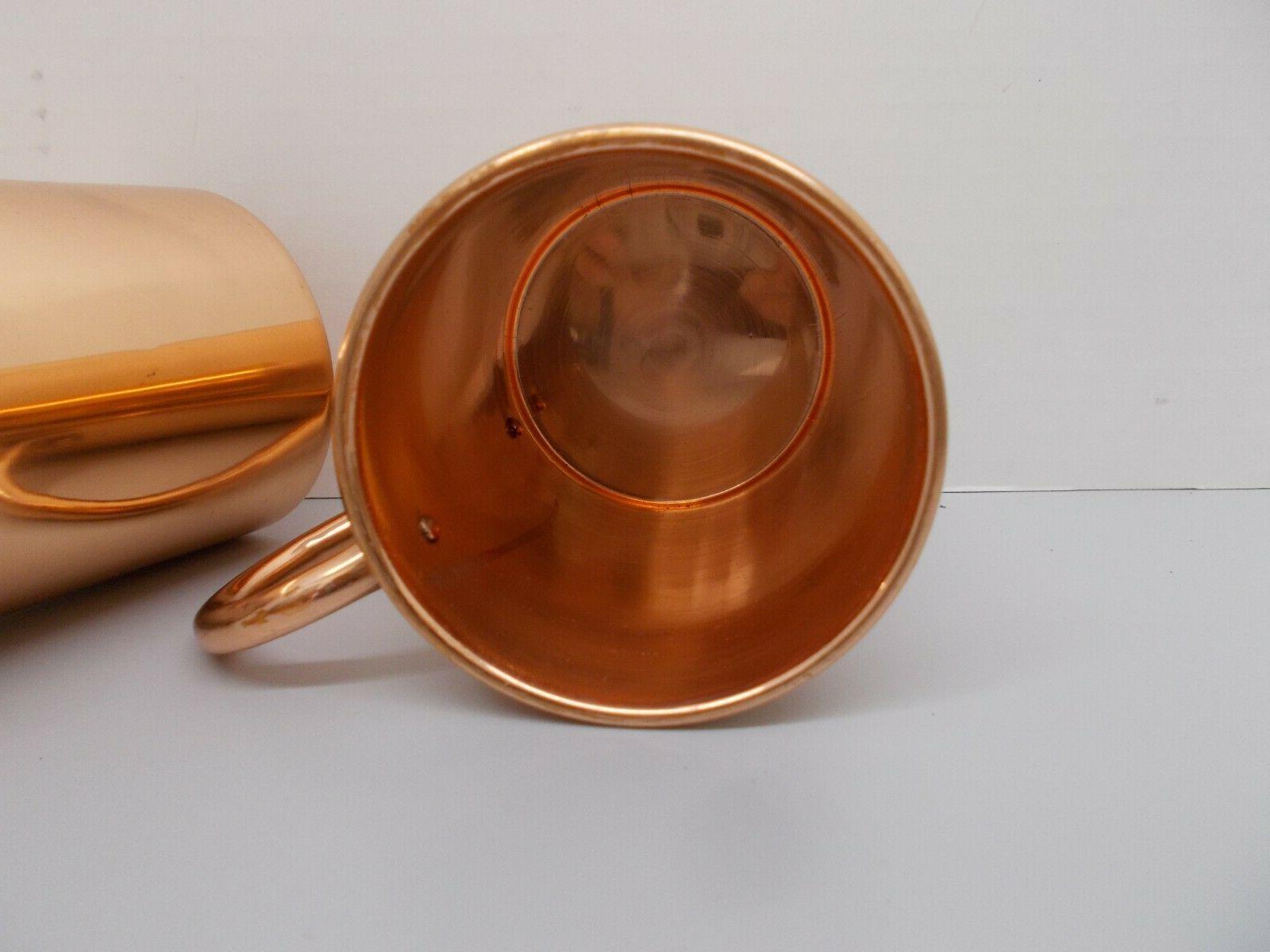 Pair Artisian Mule Pure Copper Mug 16