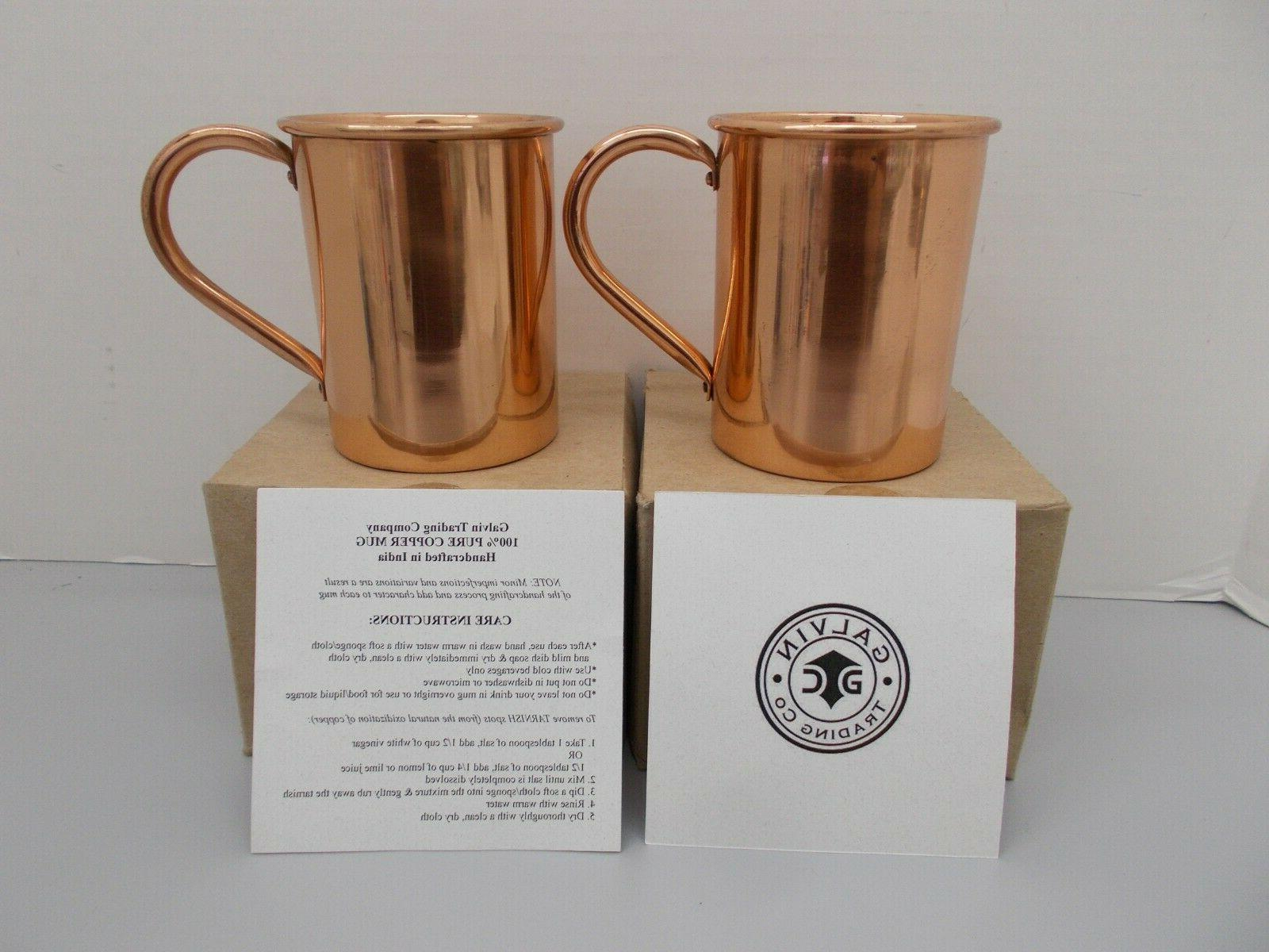 pair of hand crafted artisian moscow mule