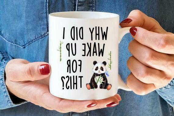 Panda Mug, Funny Mug, Panda White Coffee Mugs