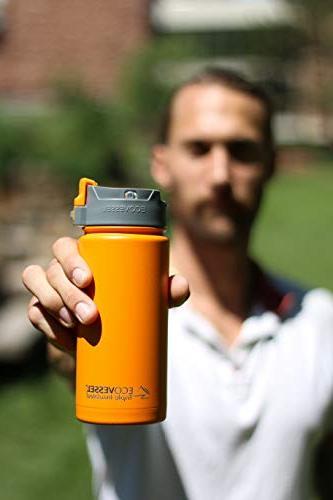 EcoVessel Stainless Coffee Tea Push Button Top - Mug -