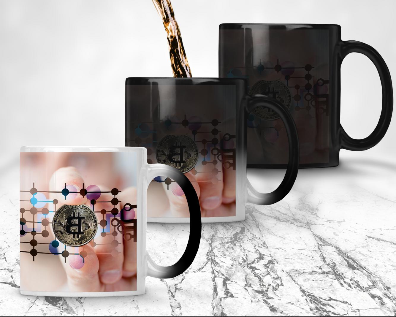 personalised magic colour change mug custom cup