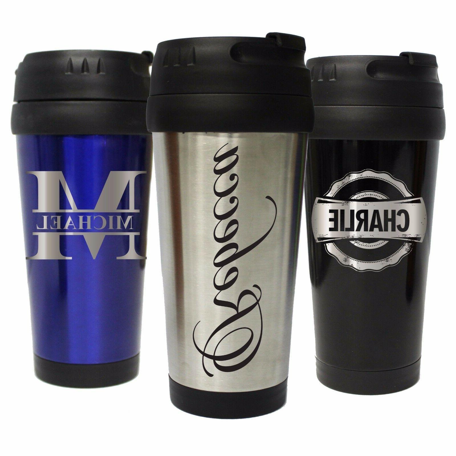 Personalized Travel Coffee Mug 16 oz - Custom Engraved Tumbl