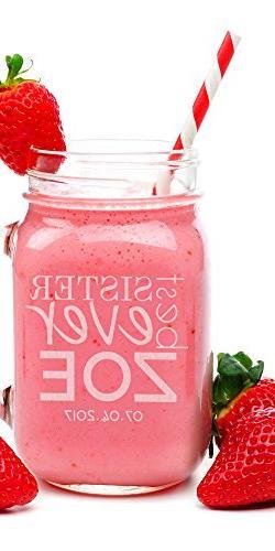 Personalized Mason Jar Lovely Woman Family Members Gift Cust