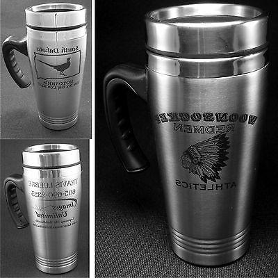 Personalized Stainless Steel Coffee Travel Mugs With Custom