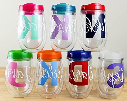 Personalized Wine Tumbler Stemless Wine Glass