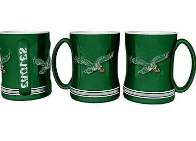 philadelphia eagles coffee mug relief sculpted team