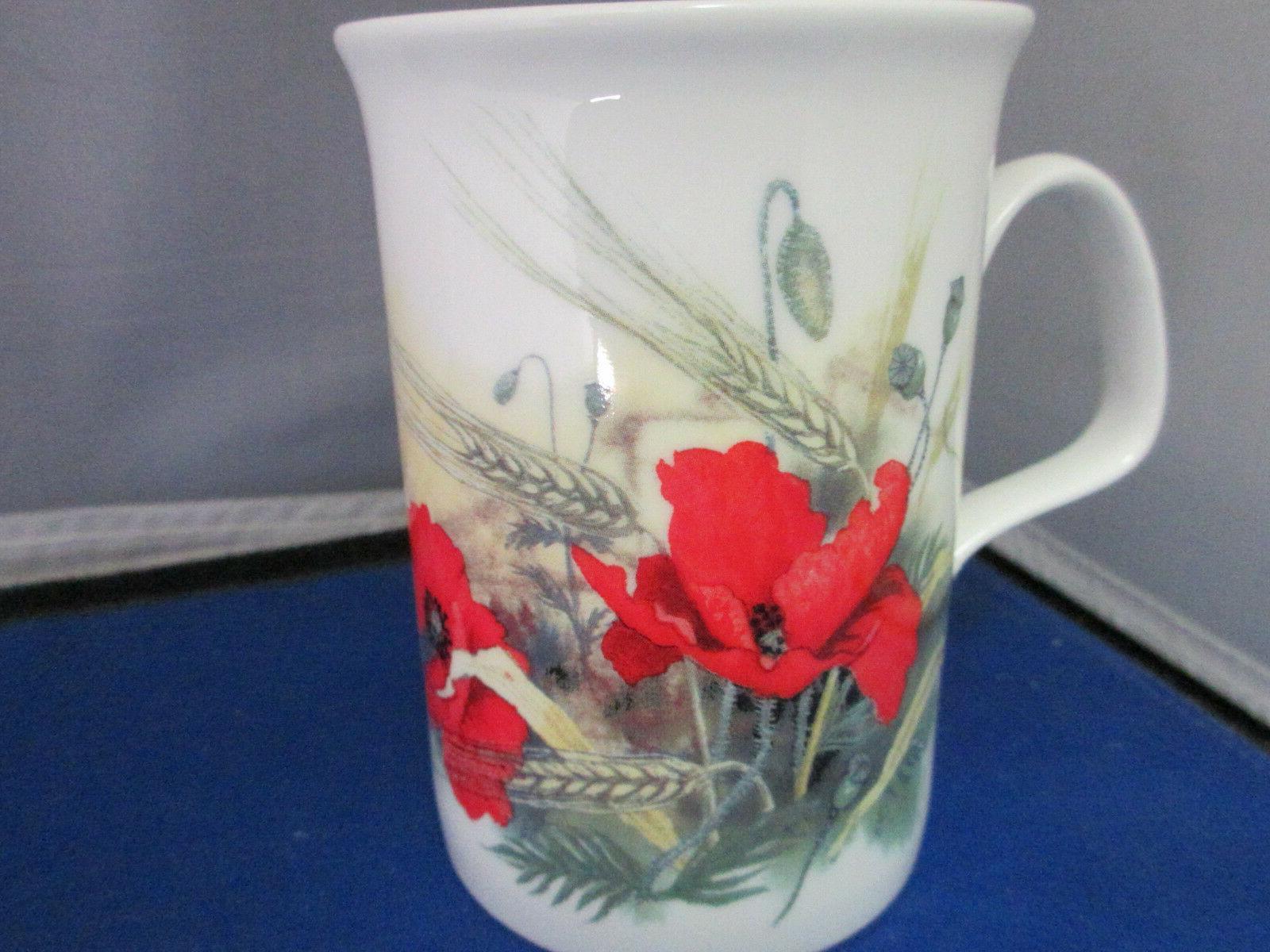 """POPPY """"FOUR"""" CHINA mugs, Made England"""