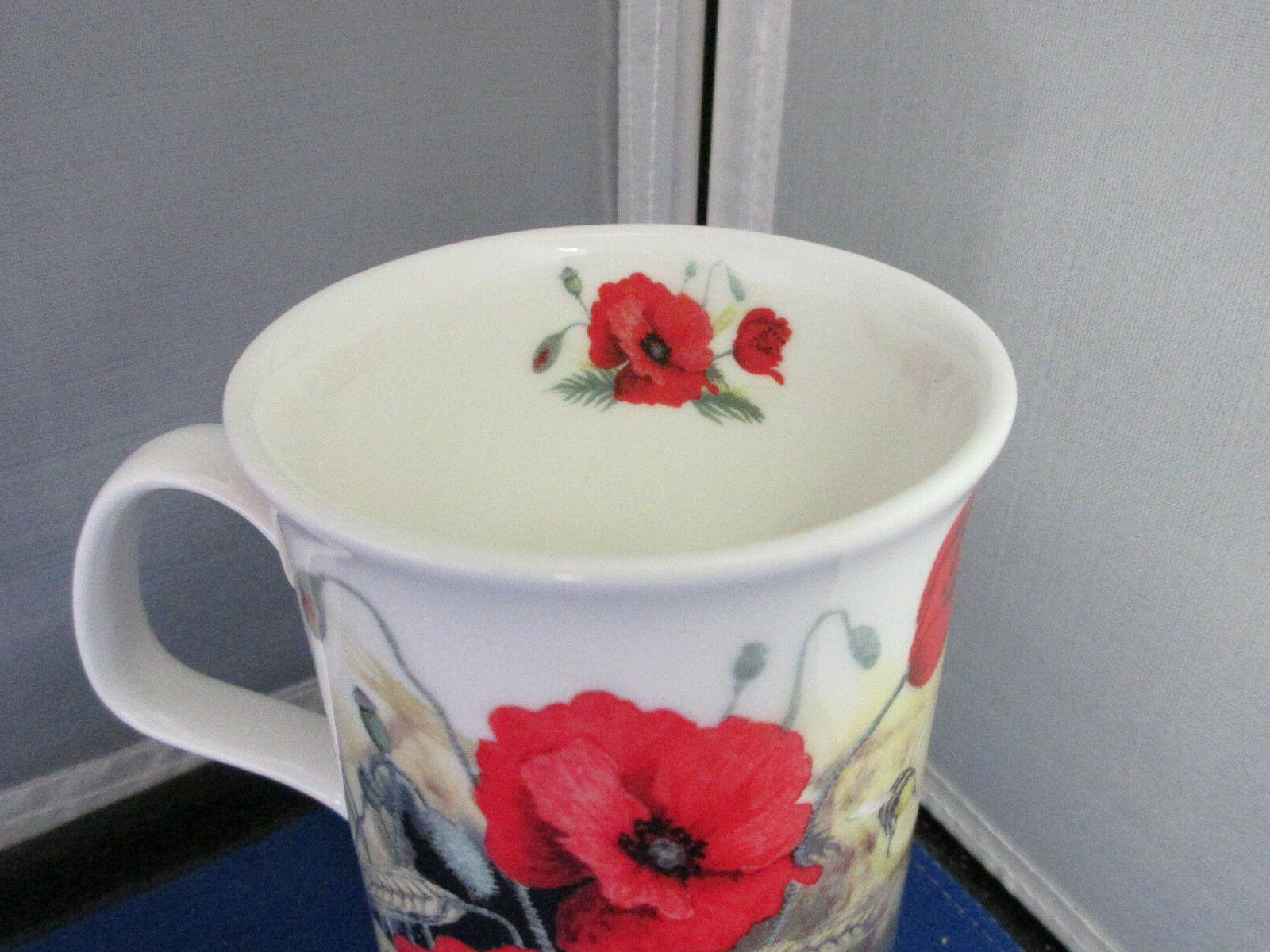 POPPY CHINA mugs, England Roy Kirkham 10oz